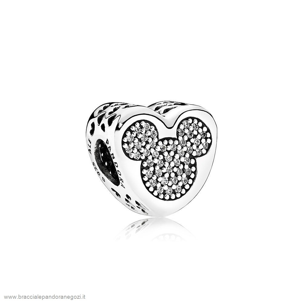 Sconti Pandora Italia Scintillante Paves Charms Disney Mickey Minnie Vero Amore