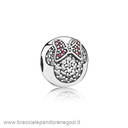 Sconti Pandora Italia Scintillante Paves Charms Disney Minnie Pave Clip