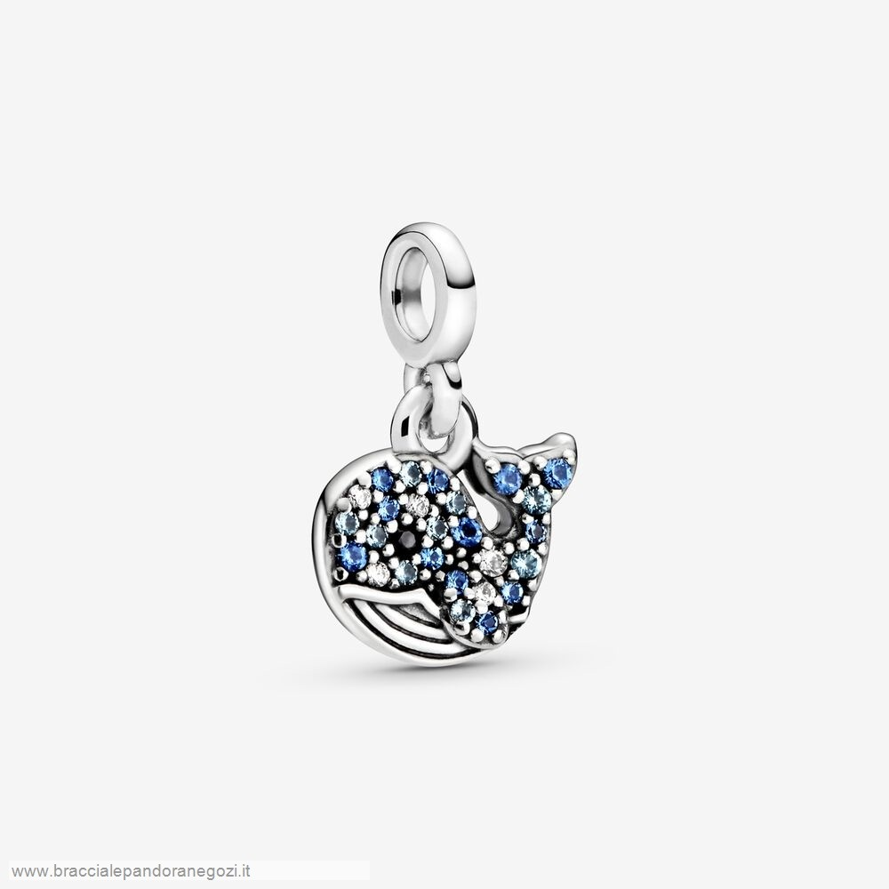 Sconti Pandora Italia My Blue Whale Dangle Charm