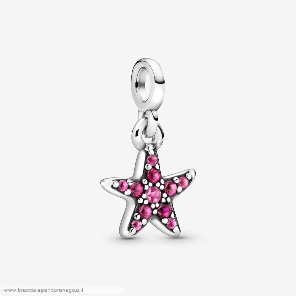 Sconti Pandora Italia My Pink Starfish Dangle Charm