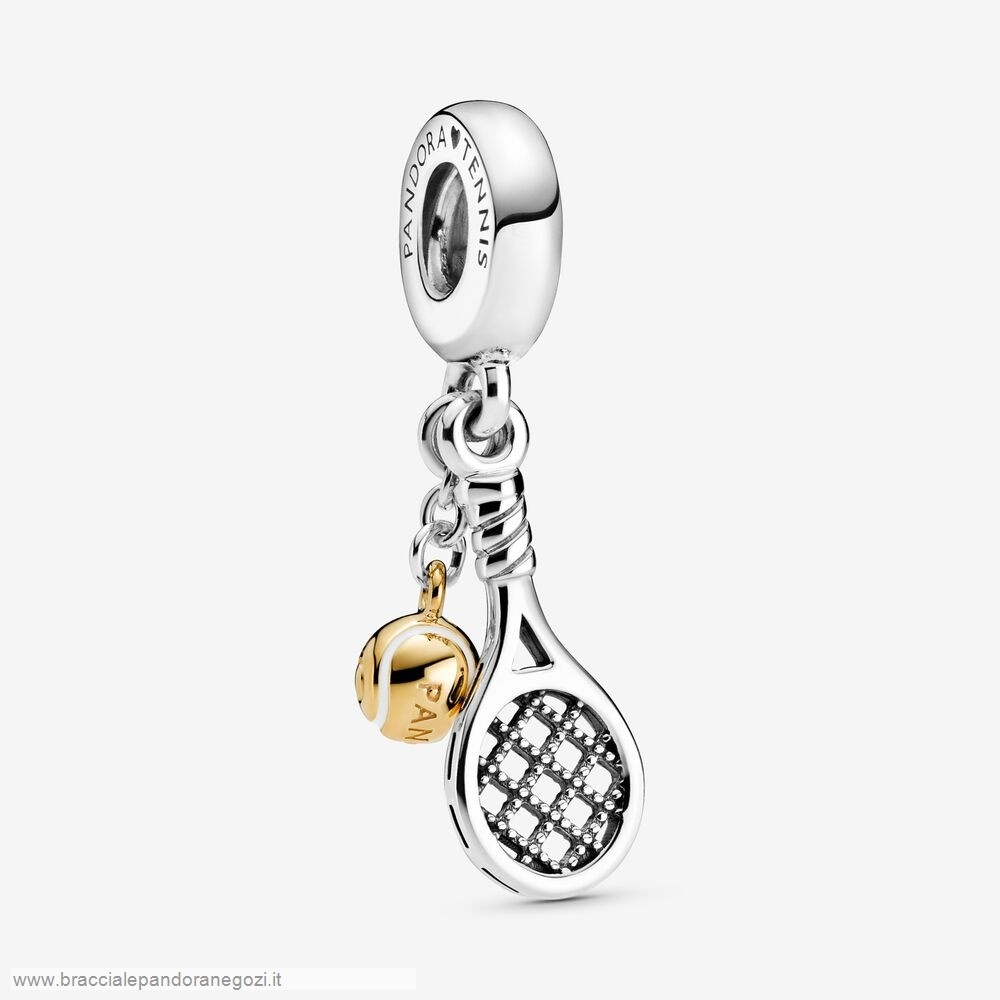 Sconti Pandora Italia Tennis Racket And Ball Dangle Charm
